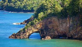 Royal Caribbean rock arch Castries St Lucia
