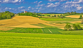 Royal Caribbean rolling hills and fields of Croatian countryside