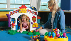 Royal Caribbean International youth programs Just for Babies (6-36 months) - Fisher-Price Toy Lending Program