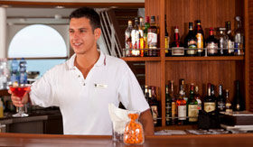 Seabourn Cruise Line entertainment Sky Bar