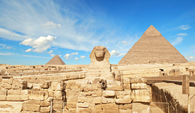 Seabourn Great Pyramid of Pharaoh Khufu located at Giza and the Sphinx Egypt