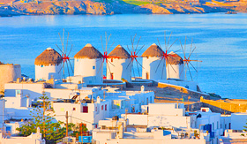 Seabourn Greece Mykonos windmills