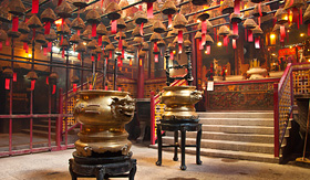 Seabourn interior of the man Mo Temple Hong Kong