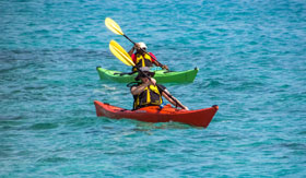 Kayaking in Boston Bay, Australia