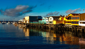 Old Fisherman's Wharf in Monterey, CA