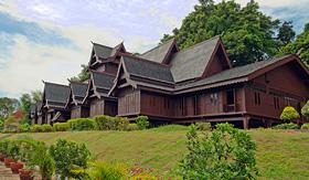 Seabourn replica of Melakas Sultante Palace Malacca Malaysia