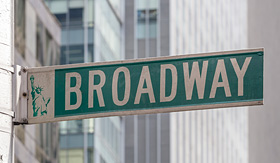 Seabourn roadsign of Manhattans famous broadway