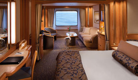 Seabourn Cruise Line staterooms Ocean-view Suite