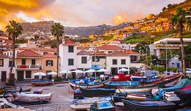 Seabourn sunset in Camara de Lobos Madeira Island Portugal