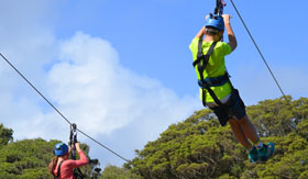 Ziplining in San Juan, Puerto Rico
