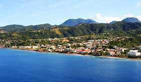 Silversea Cruises caribbean city Roseau on the island of Dominica