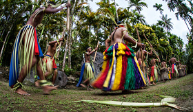Silversea Cruises dancers from a village in Yap in Micronesia