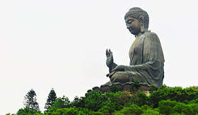 Silversea Cruises giant Buddhapo Lin Monastery Hong Kong Lantau Island