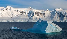 Silversea Cruises glaciers in Paradise Bay, Antarctica