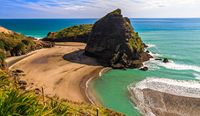 Silversea Cruises Piha Beach in Auckland, New Zealand