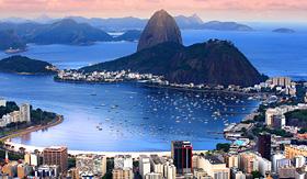 Silversea Cruises sunset at Rio de Janeiro Brazil