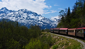 Silversea Cruises the White Pass and Yukon Route Railroad