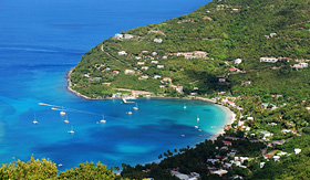 Silversea Cruises Tortola Island coastline British Virgin Islands