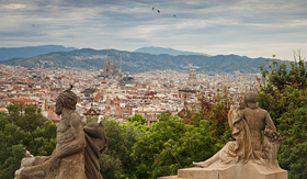 Silversea Cruises view over Barcelona Spain