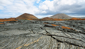 Silversea Cruises volcanic landscape of Santiago Island, Galapagos