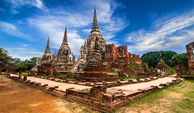 Silversea Cruises Wat Phra Sri Sanphet Temple Ayutthaya Thailand