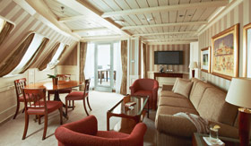 Silversea Cruise Line staterooms Royal Suite