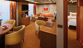 Silversea Cruise Line staterooms Silver Suite