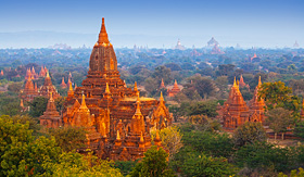 Bagan Archaeological Zone in Myanmar (Burma)