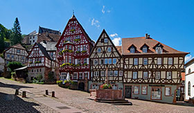 Picturesque Miltenberg, Germany