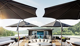 Rooftop Lounge aboard The A