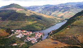 Uniworld aerial view of Pinhao