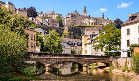 Uniworld River Cruises Alzette River in Luxembourg City