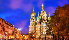 Uniworld River Cruises Church of the Resurrection of Christ in St. Petersburg, Russia