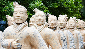 Uniworld River Cruises army of Terracotta Warriors in China
