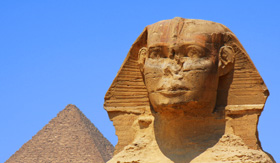 Uniworld Cruises Sphinx and Pyramids in Egypt