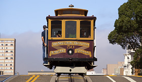 Trolley car in San Francisco, California