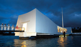 USS Arizona Memorial in Honolulu, Hawaii