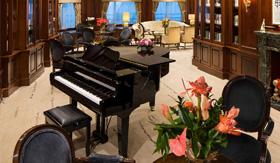 A piano for live performances aboard Azamara