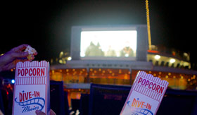 Dive-in Movies and popcorn aboard Carnival