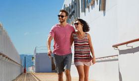 Boardwalk Cafe aboard Cunard