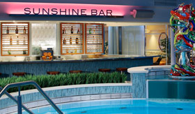 Sunshine Bar aboard Royal Caribbean