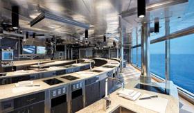 Culinary Arts Kitchen aboard Regent Seven Seas