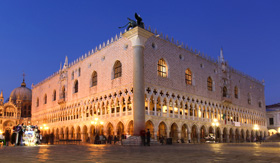 Royal Caribbean Venice with Doge Palace on piazza San Marco in Italy