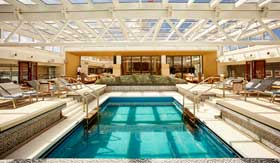Main pool aboard Viking Jupiter
