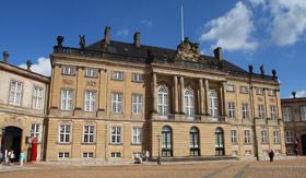 Amalienborg Palace in Copenhagen, Denmark