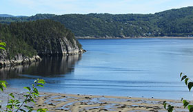 Riverbanks of Saguenay, Quebec