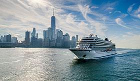 Viking Oceans ship in New York City