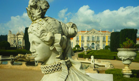 Queluz Palace in Lisbon, Portugal