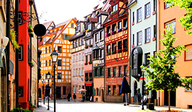 Viking River Cruises half-timbered houses of Old Town in Nuremberg, Germany