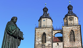 Viking River Cruises Luther and St. Mary's Church in Wittenberg, Germany